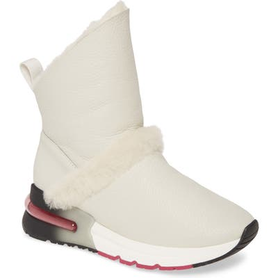 Ash Klima Genuine Shearling Boot, Ivory
