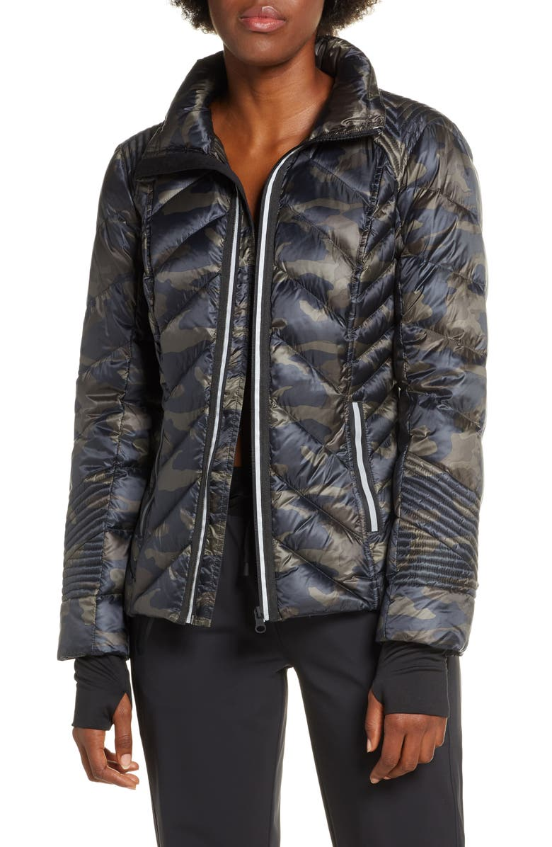 BLANC NOIR Reflective Down Puffer Jacket, Main, color, CAMO