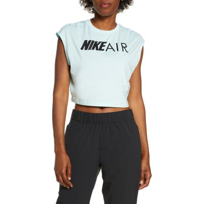 Nike Air Graphic Dri-Fit Crop Tee, Green
