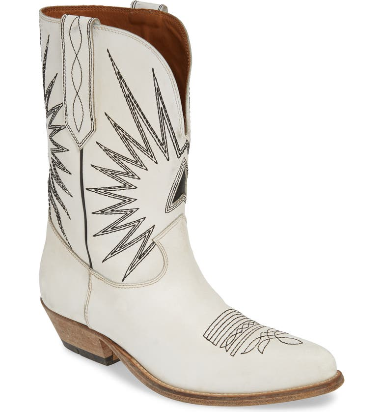 GOLDEN GOOSE Wish Star Western Boot, Main, color, 115