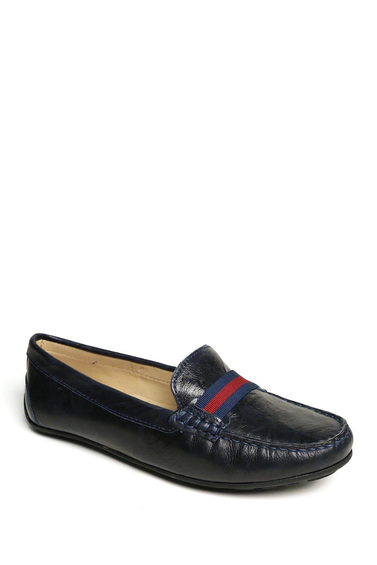 Driver Club USA Kids Boys//Girls Leather Luxury Fashion Driving Loafer with Grow Grain Detail