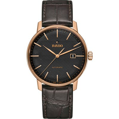 Rado Coupole Classic Automatic Leather Strap Watch, 41Mm