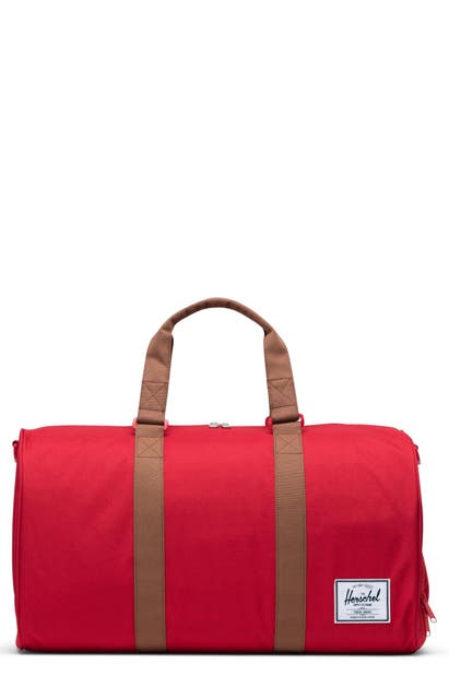 Herschel Supply Co. Duffle Bag In Red/ Saddle Brown