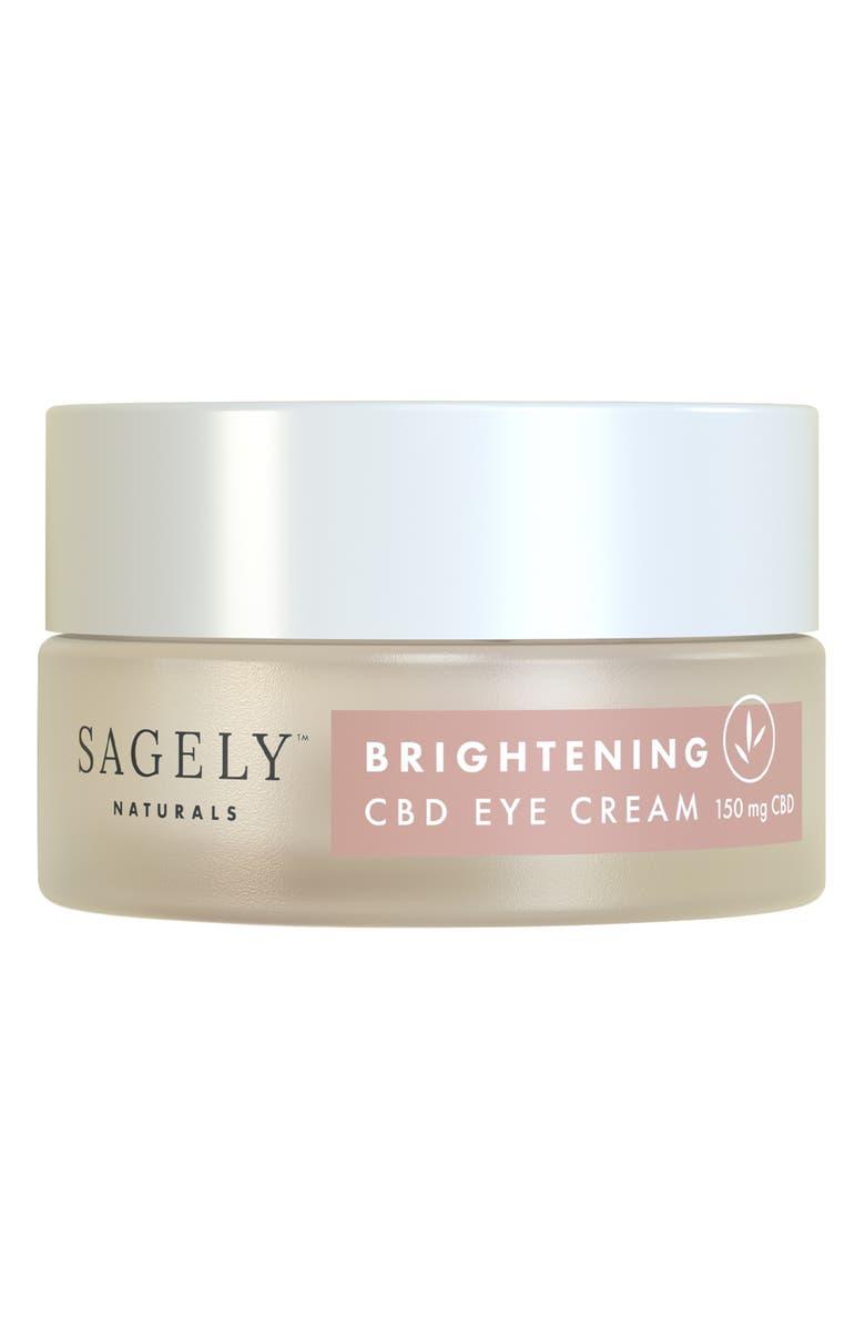 SAGELY NATURALS Brightening CBD Eye Cream, Main, color, NO COLOR