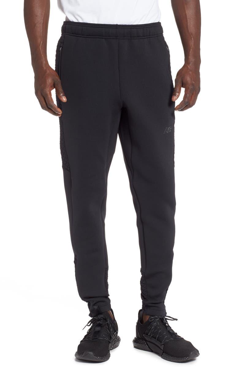NEW BALANCE Heat Loft Pants, Main, color, BLACK