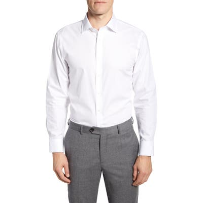 The Tie Bar Trim Fit Solid Dress Shirt - White