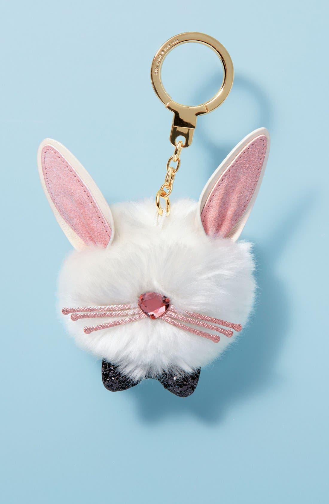 ,                             bunny pouf faux fur bag charm,                             Alternate thumbnail 4, color,                             104
