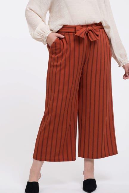 Image of Perch by Blu Pepper Tie Waist Stripe Culottes