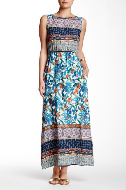 Image of Papillon Printed Keyhole Maxi Dress