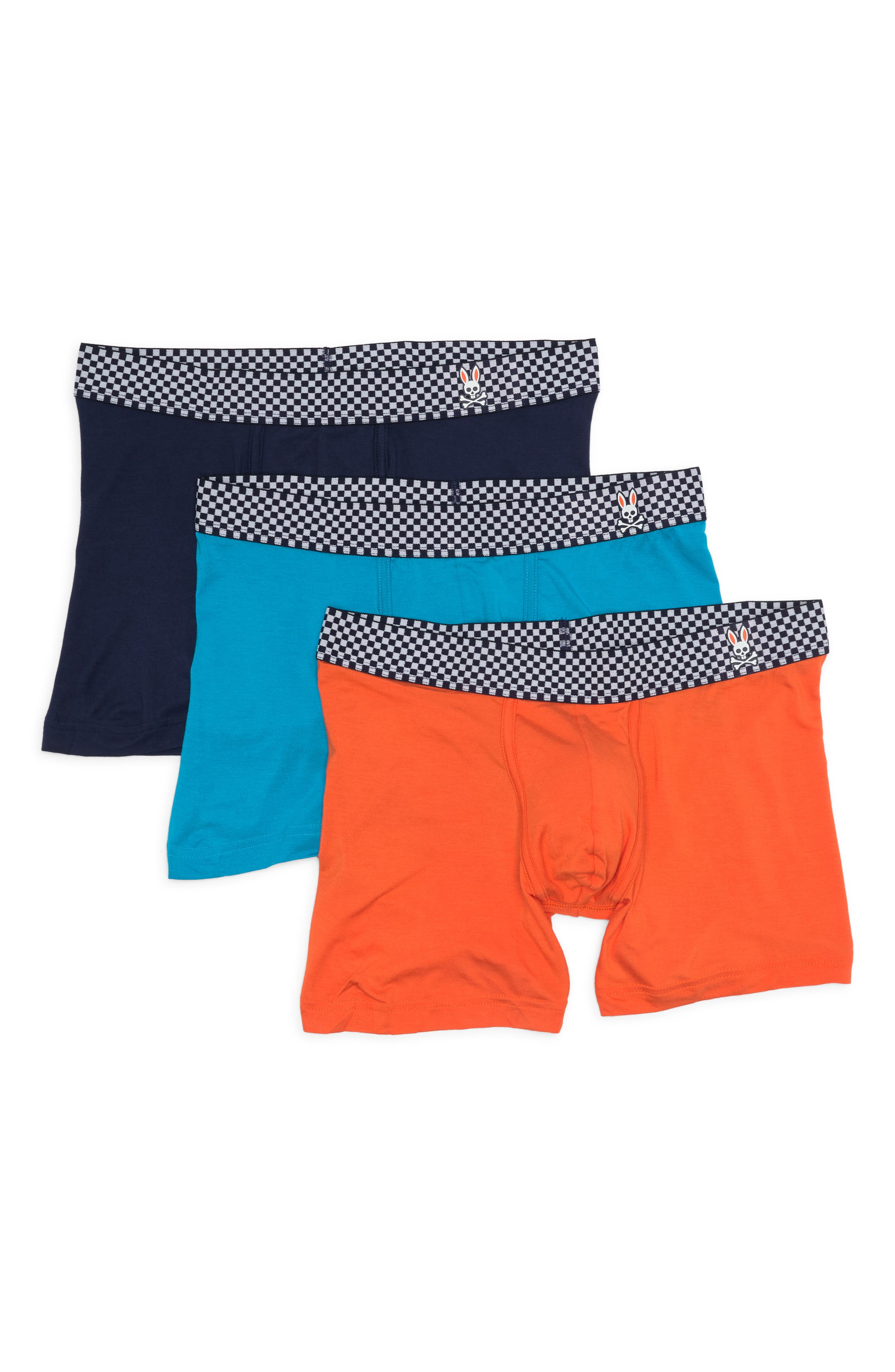Psycho Bunny Mens Modern Luxe Trunks 3-Pack