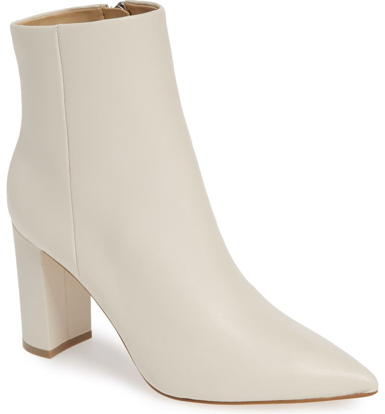 MARC FISHER LTD . Ulani Pointy Toe Bootie, Main, color, IVORY LEATHER