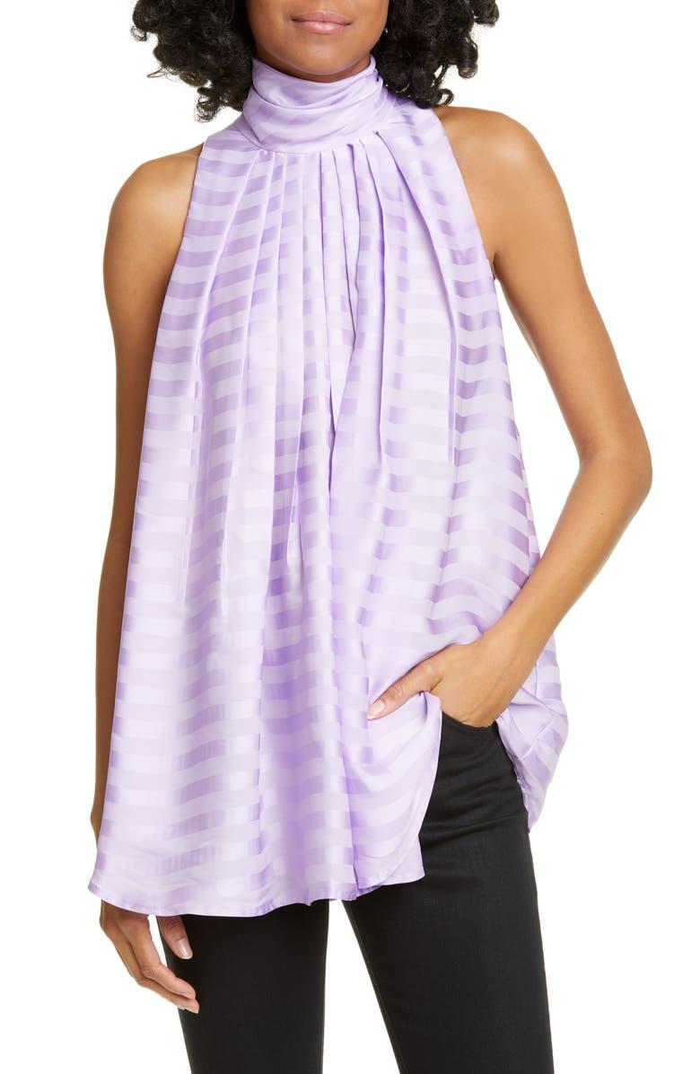 SMYTHE Polka Dot Drape Blouse, Main, color, 500