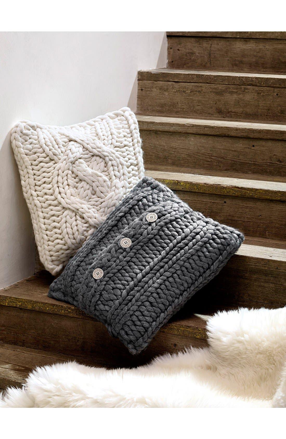 ,                             Oversize Knit Pillow,                             Alternate thumbnail 3, color,                             020