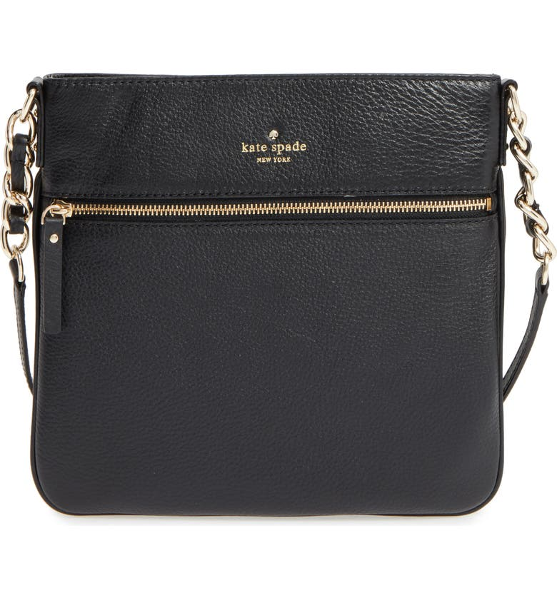 KATE SPADE NEW YORK 'cobble hill - ellen' leather crossbody bag, Main, color, 001