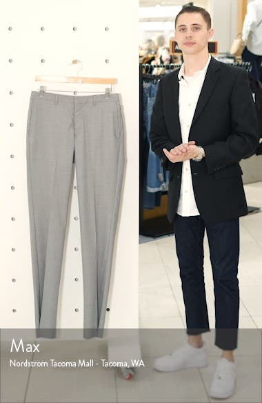 Tech-Smart Slim Fit Stretch Wool Dress Pants, sales video thumbnail