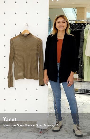 Breanne Openwork Mock Neck Sweater, sales video thumbnail