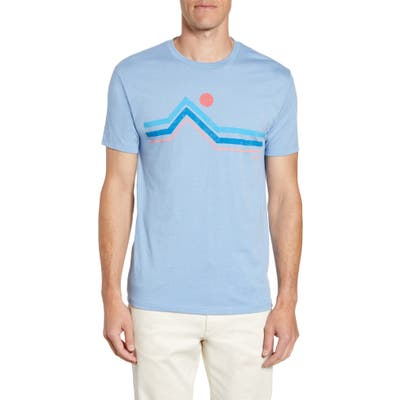 Johnnie-O Linearscape Classic Fit Graphic T-Shirt, Blue