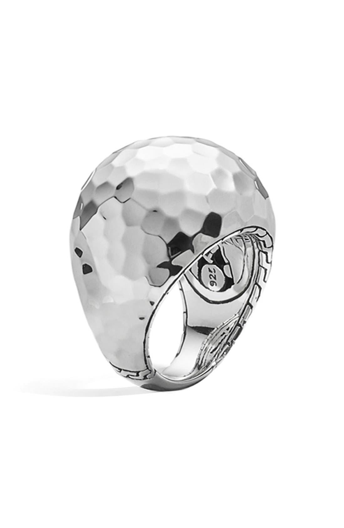Image of JOHN HARDY Palu Hammered Dome Ring - Size 7