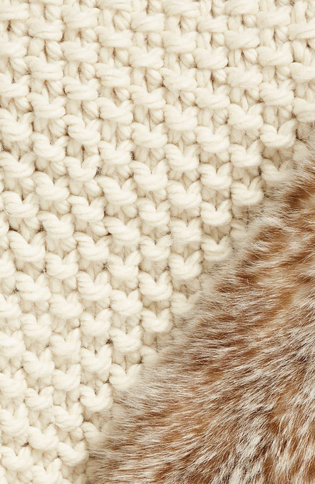 ,                             Faux Fur Border Knit Throw,                             Alternate thumbnail 7, color,                             900