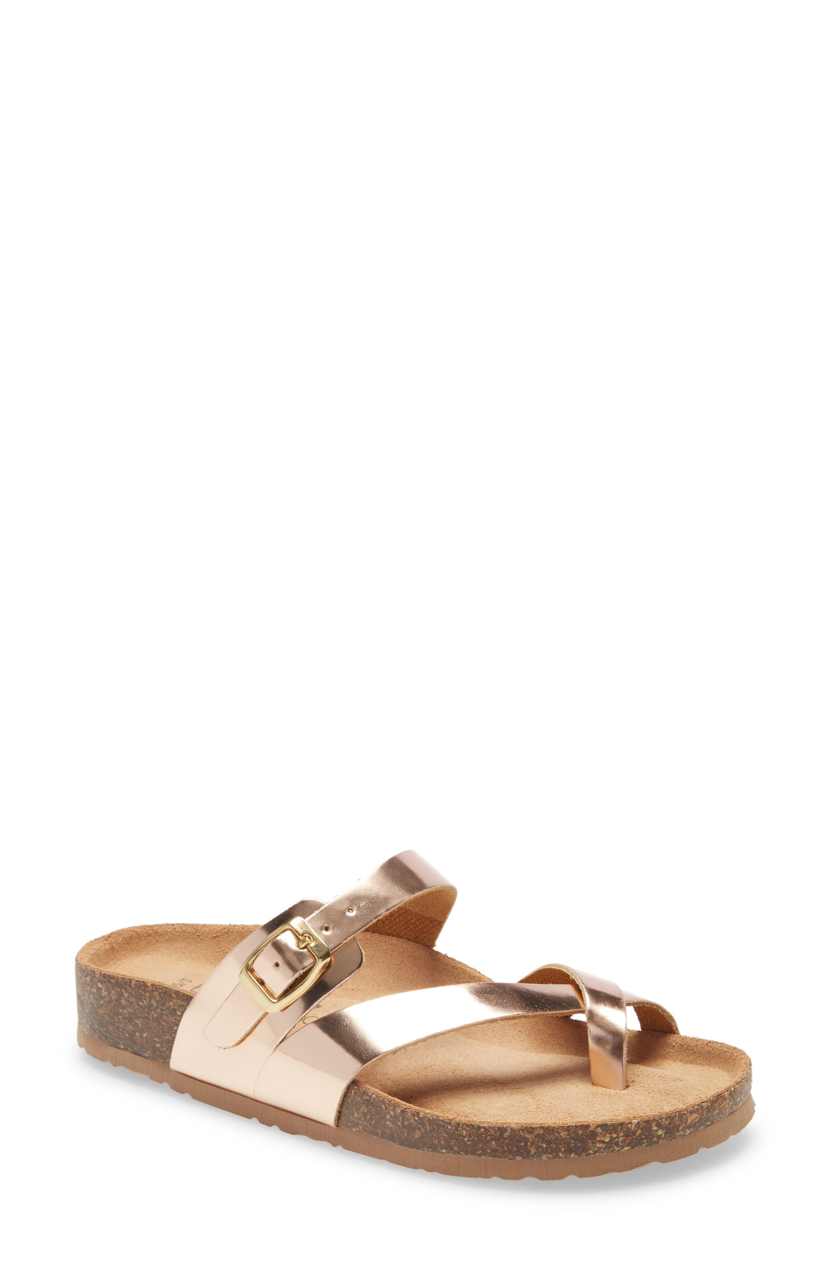 Strappy styling details a comfort-focused sandal grounded by a contoured cork footbed. Style Name: Bos. & Co. Parr Sandal (Women). Style Number: 6002122. Available in stores.