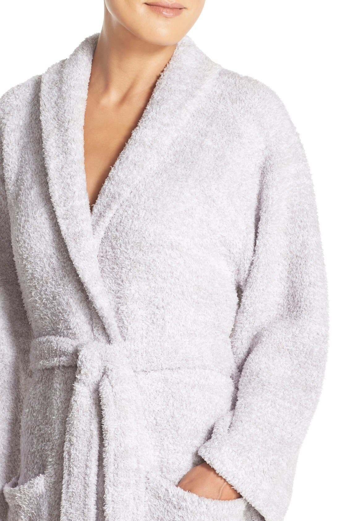 ,                             CozyChic<sup>®</sup> Robe,                             Alternate thumbnail 6, color,                             LIGHT GRAY/ WHITE