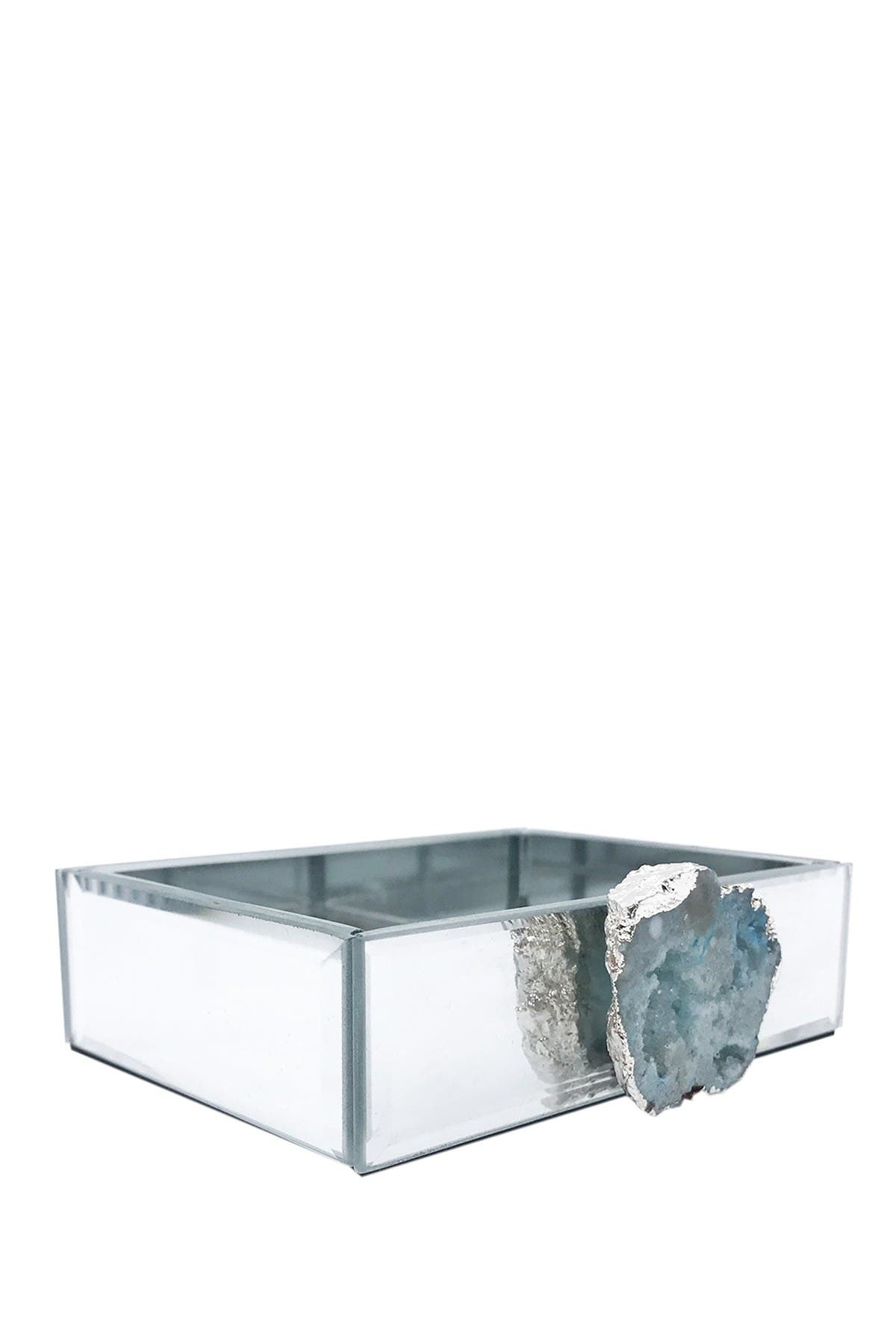 Image of Jay Import Teal/Silver Agate Mirrored Soap Dish