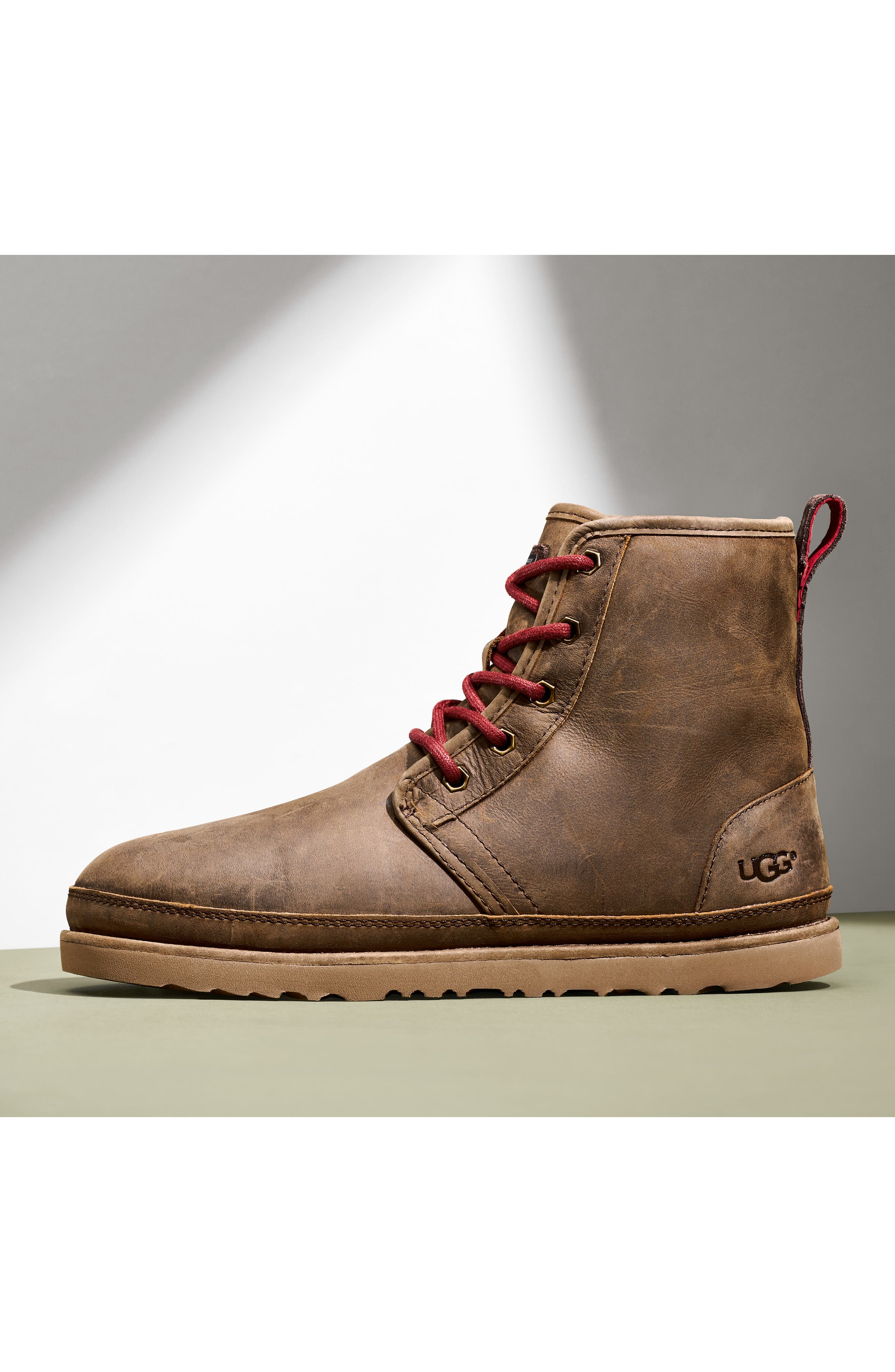 ,                             Harkley Plain Toe Waterproof Waterproof Boot,                             Alternate thumbnail 7, color,                             CHARCOAL
