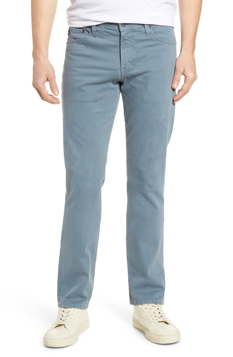 AG Everett SUD Slim Straight Fit Pants, Main, color, BUXTON BLUE