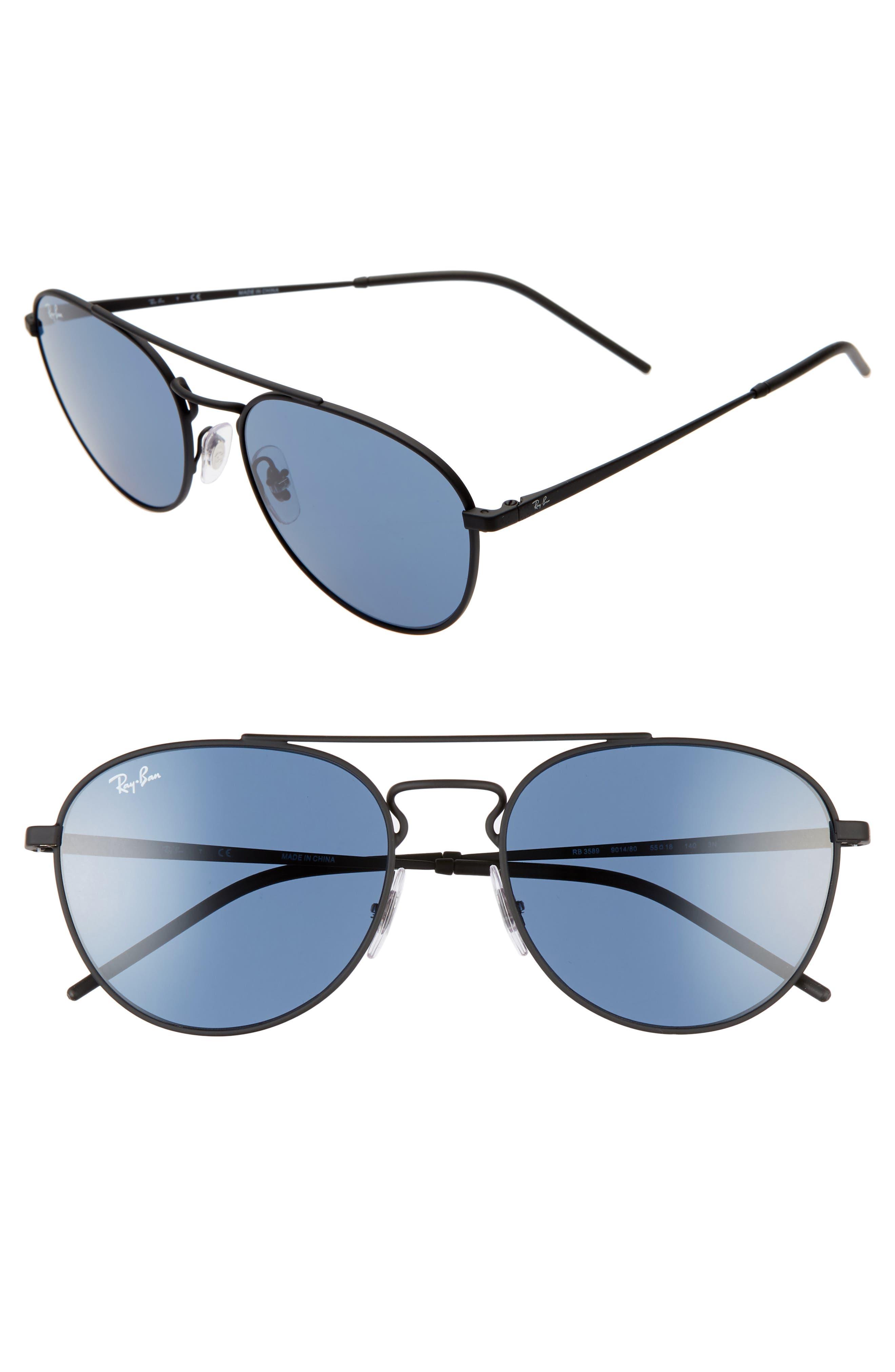 Ray-Ban 55Mm Aviator Sunglasses -