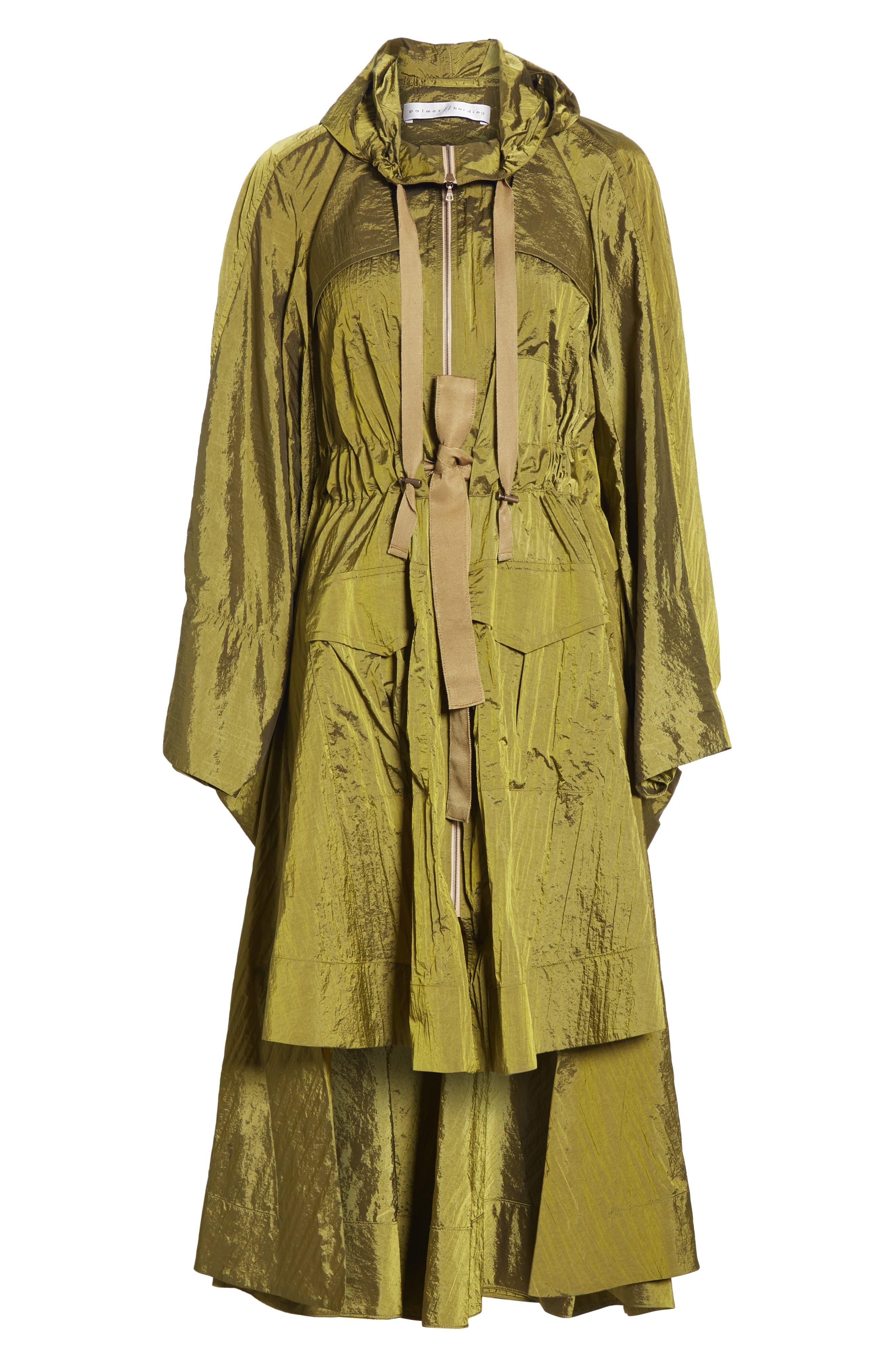 ,                             Brooke Drawstring Coat,                             Alternate thumbnail 6, color,                             LIGHTWEIGHT KHAKI NYLON