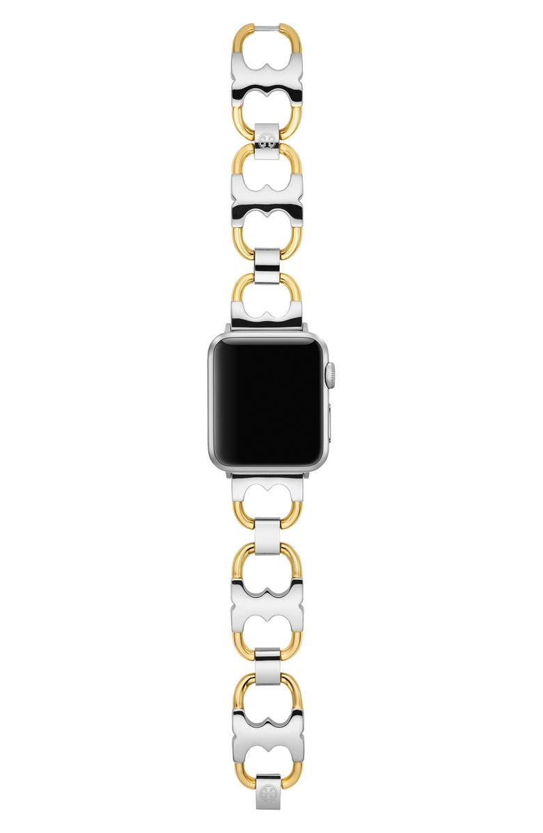 토리버치 Tory Burch Double-T Link Band for Apple Watch, 38mmu002F40mm