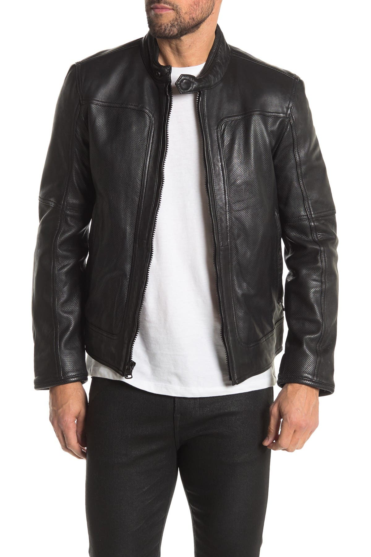 Image of Andrew Marc Maurice Leather Jacket