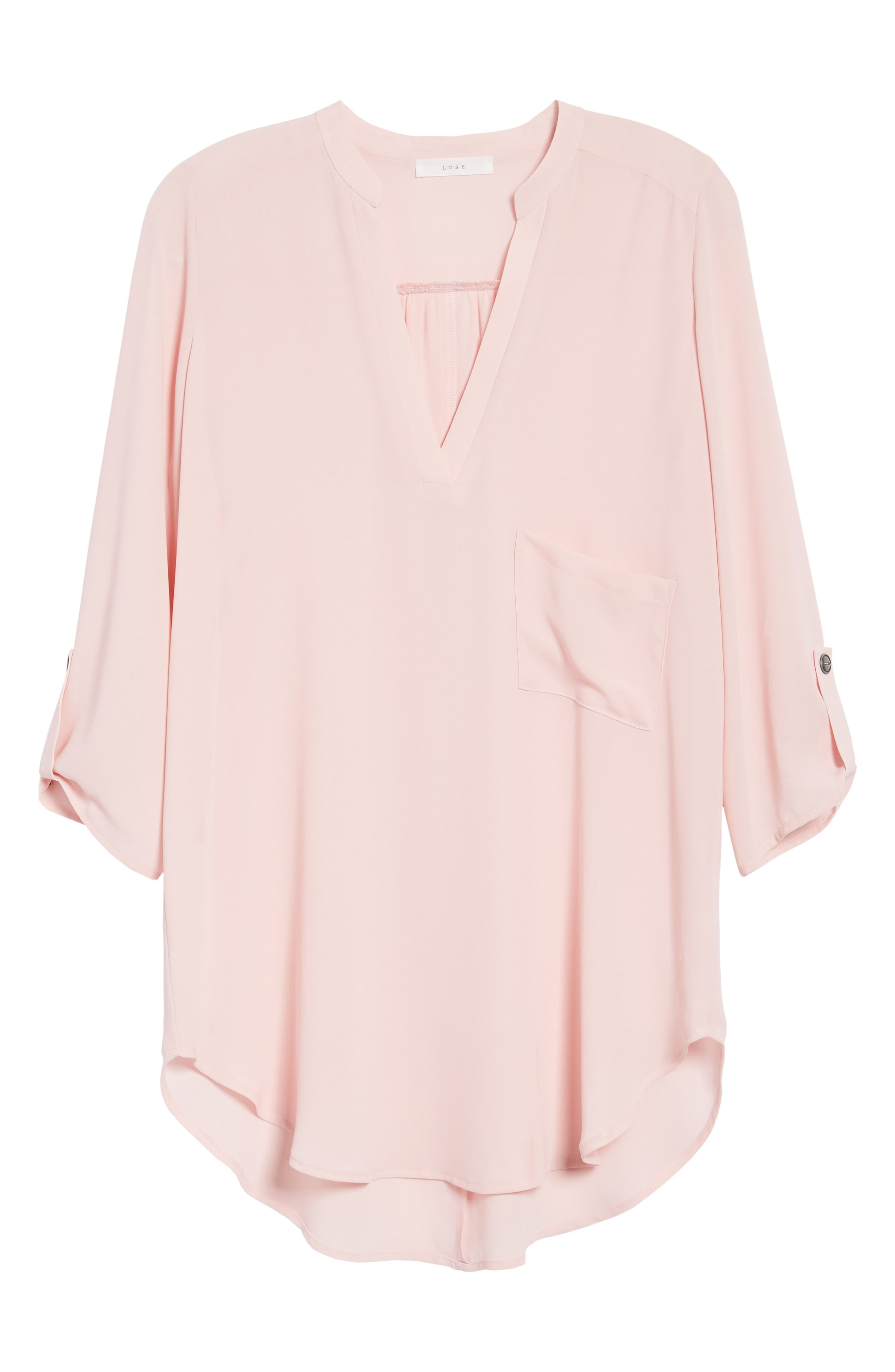 ,                             Perfect Roll Tab Sleeve Tunic,                             Alternate thumbnail 147, color,                             657