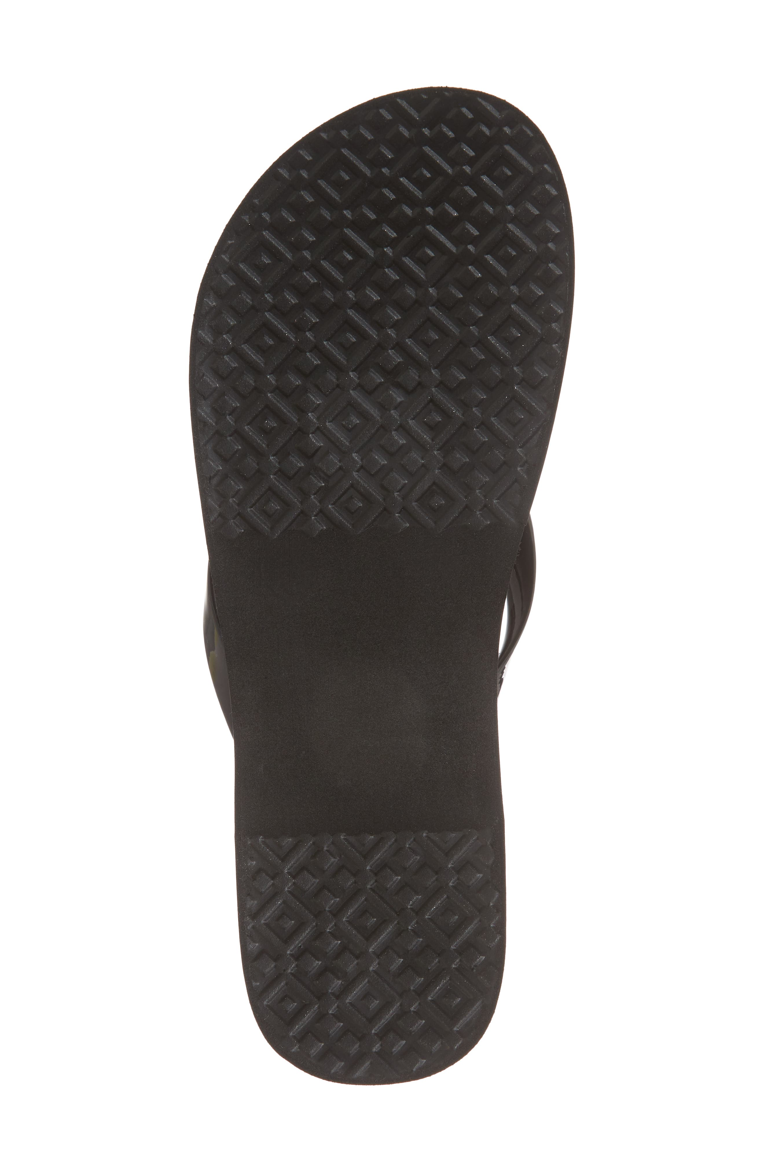 ,                             Wedge Flip Flop,                             Alternate thumbnail 6, color,                             BLACK/ BLACK