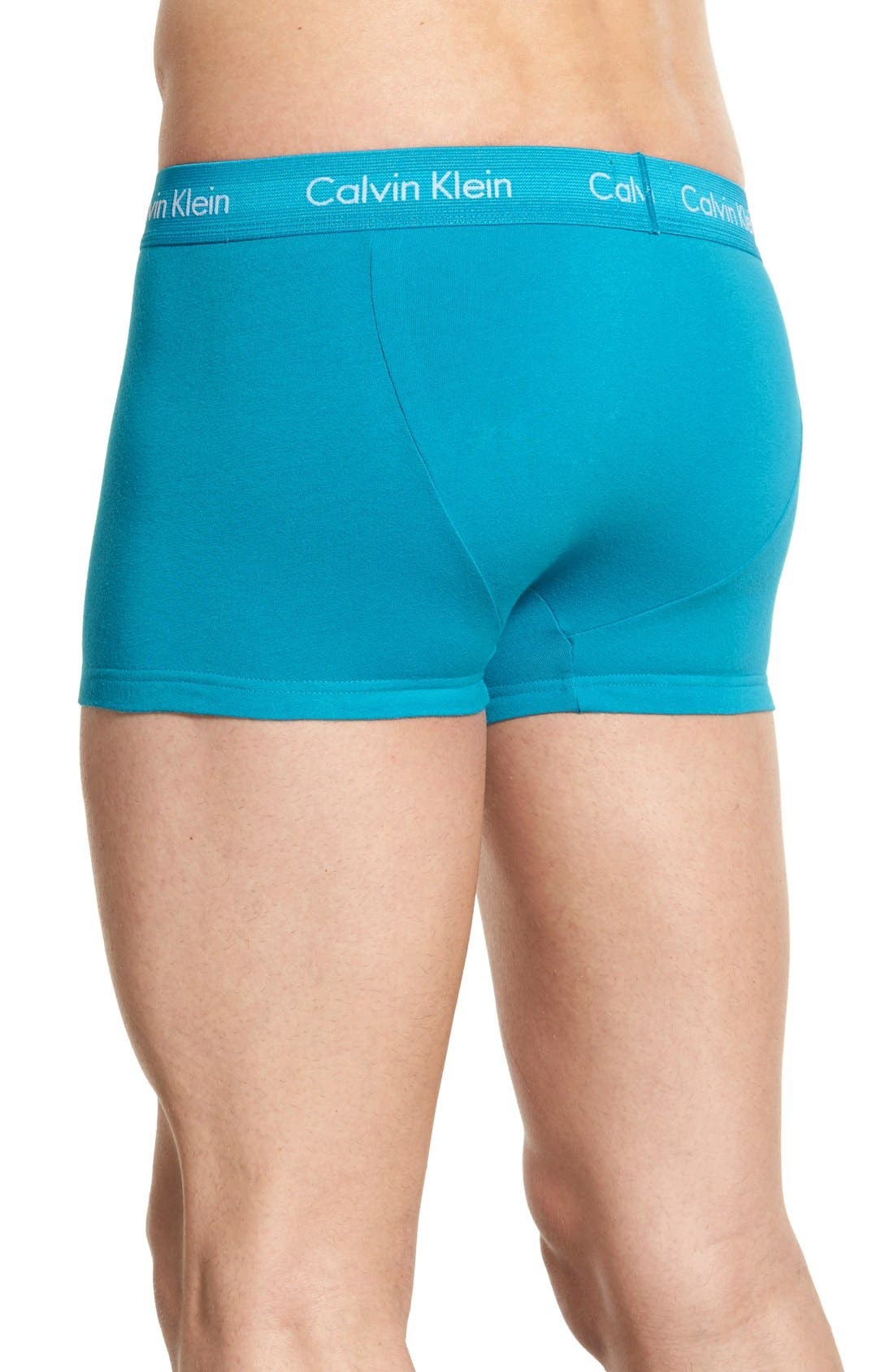 ,                             3-Pack Stretch Cotton Low Rise Trunks,                             Alternate thumbnail 163, color,                             402