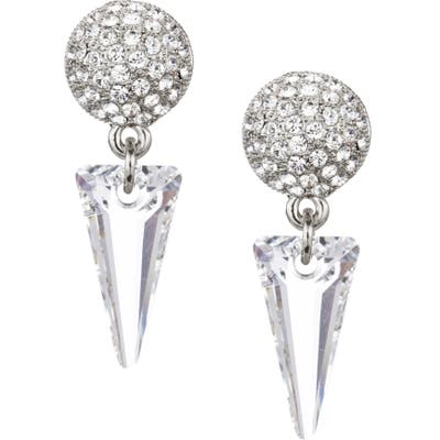 Nina Swarovski Crystal Spike Drop Earrings