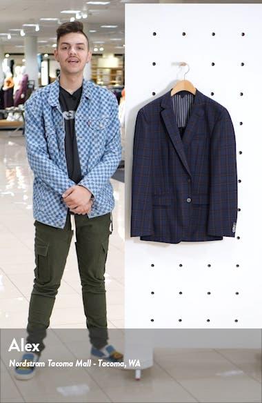 Hartlay Trim Fit Plaid Wool Sport Coat, sales video thumbnail