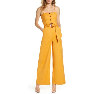Finders Keepers Jada Jumpsuit, Yellow