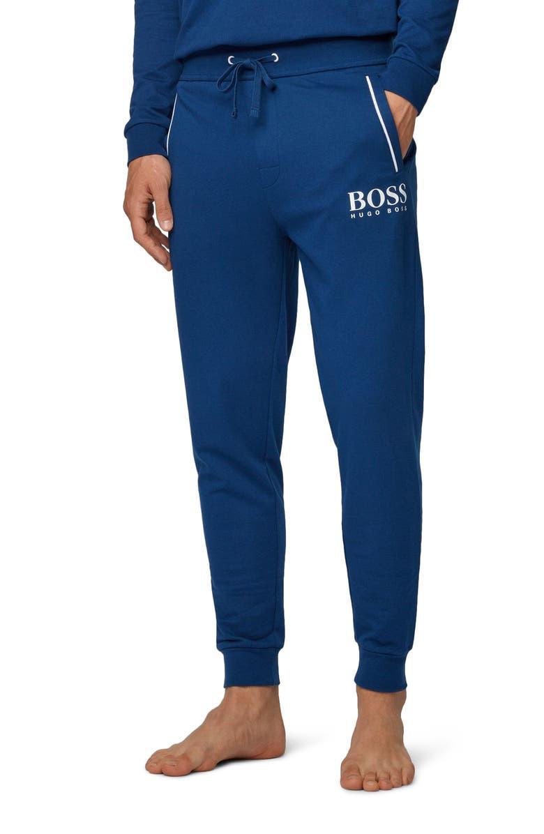 BOSS Authentic Cotton Pajama Bottoms, Main, color, MEDIUM BLUE