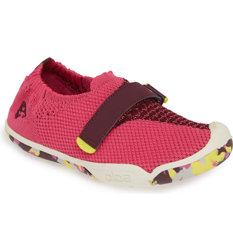 PLAE Elise Knit Sneaker, Main, color, ELECTRIC FUCHSIA