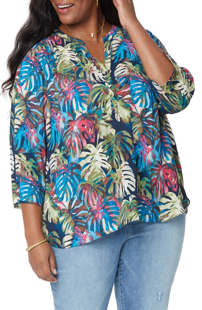 CURVES 360 BY NYDJ Perfect Blouse, Main, color, PALM LAGOON