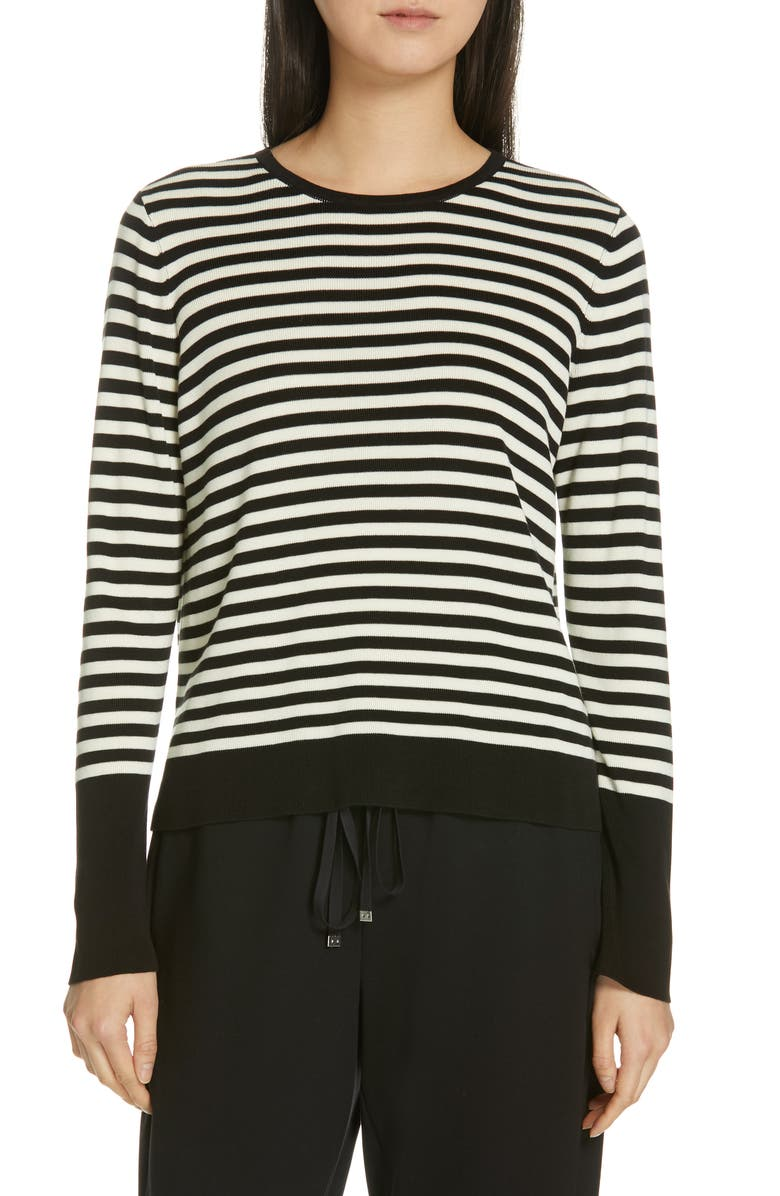 EILEEN FISHER Tencel<sup>®</sup> Lyocell & Silk Sweater, Main, color, 012