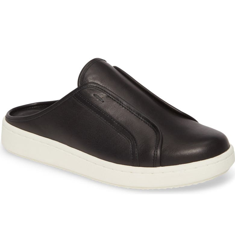 EILEEN FISHER News Slip-On Sneaker, Main, color, BLACK LEATHER