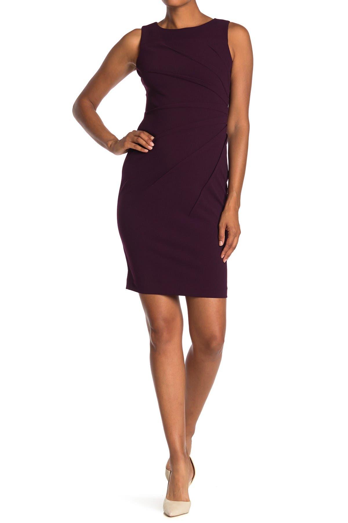Image of Calvin Klein Sleeveless Starburst Stitch Sheath Dress