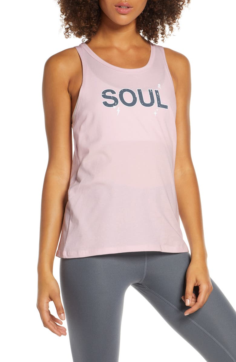 SOUL BY SOULCYCLE Sophie Double Twist Tank, Main, color, LILAC SNOW