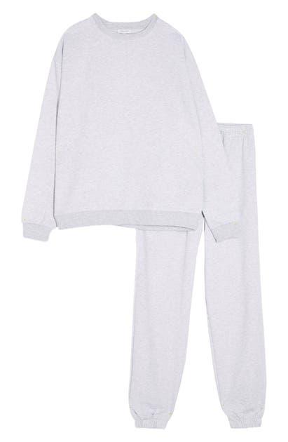 Topshop Sweatshirt & Joggers In Grey Marl