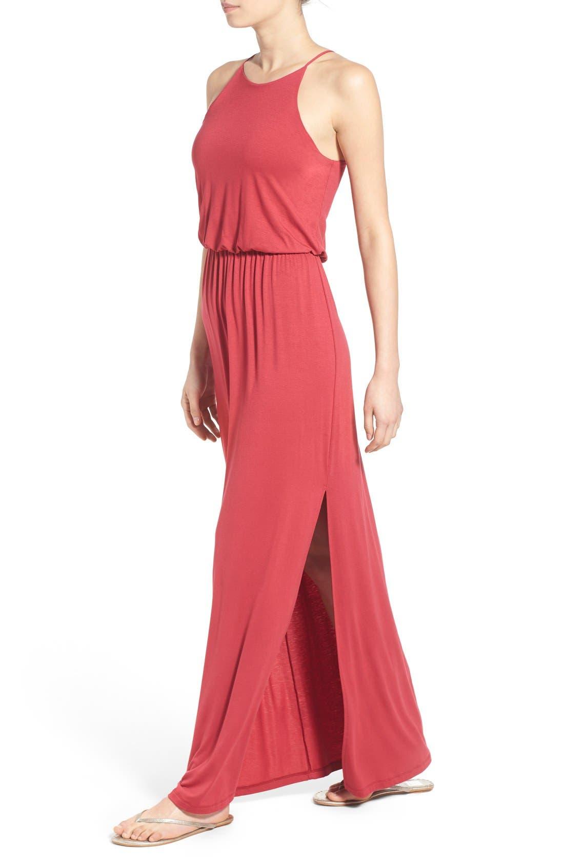 ,                             High Neck Maxi Dress,                             Alternate thumbnail 116, color,                             600