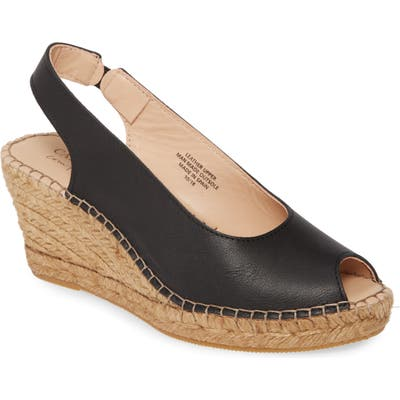 Carvela Comfort Sharon Espadrille Wedge Sandal, Black
