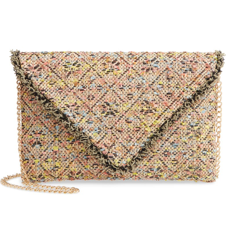 Sondra Roberts Woven Envelope Crossbody Bag