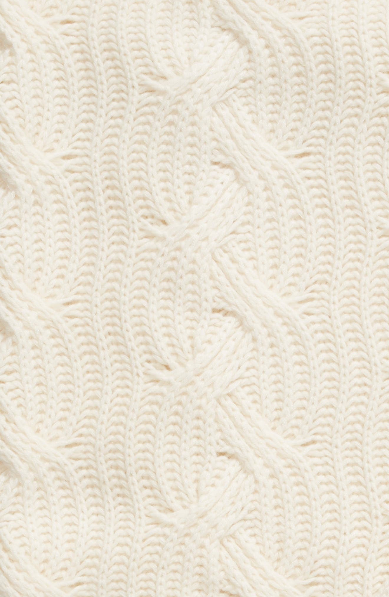 ,                             Cable Knit Cashmere Throw,                             Alternate thumbnail 2, color,                             IVORY